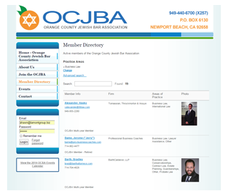 ocjba website membership directory